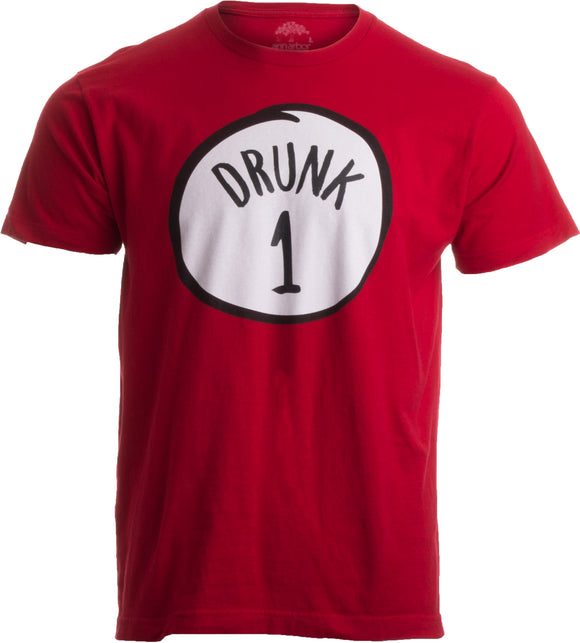 Drunk 1 | Funny Drinking Team, Group Halloween Costume Unisex T-shirt-Adult, S