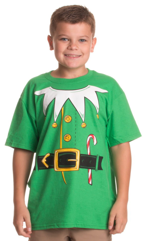 Santa's Elf Costume | Jumbo Print Novelty Christmas Holiday Humor Youth T-shirt