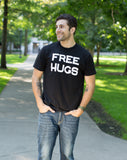 FREE HUGS | Cute, Funny Optimist Humanist Silly Hugging Unisex T-shirt