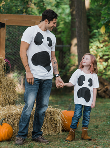 Silly Ghost Face | Spooky Halloween Ghoul Face Easy Costume Youth T-shirt