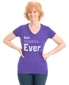Best Grandma Ever | Cute Grandmother, Nana, Mother's Day Ladies' V-neck T-shirt