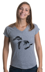 Great Lakes Ink | Michigan, Midwest Mitten Pride Artsy Ladies' Triblend T-shirt