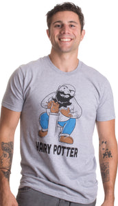 Hairy Potter | Funny Book Pun Harry Reading Humor Dad Joke Pottery T-shirt