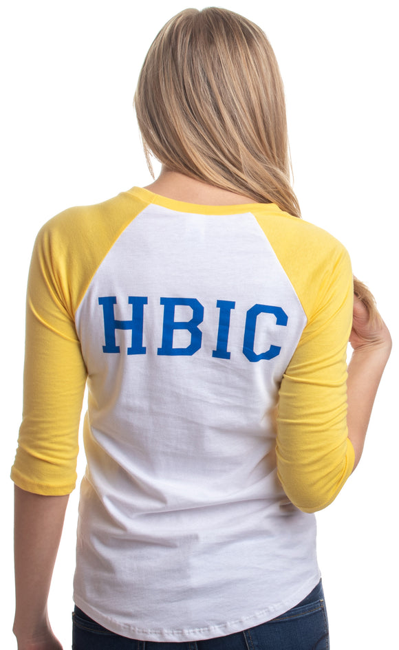 HBIC | Head Bitch in Charge Riverdale Teen Vixen Women Yellow Baseball T-shirt