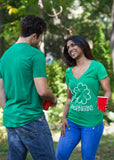 I Shamrock Shenanigans | Cute, Funny St. Patrick's Day Women's Green Deep V-neck