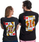 King & Queen | Matching Couples Husband Wife Bridal Wedding Newlywed T-shirts