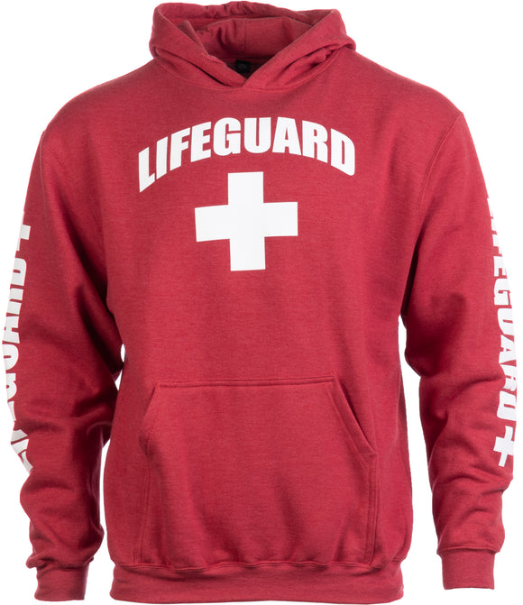 LIFEGUARD | Red Unisex Uniform Fleece Hoody Sweatshirt Hoodie Sweater Men Women