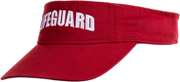 Lifeguard Visor | Professional Guard Hat Red Sun Cap Men Women Costume Uniform