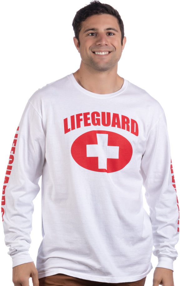 LIFEGUARD | Red or White Unisex Uniform Costume Long Sleeve T-shirt Men Women