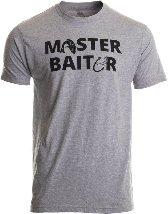 Masterbaiter | Funny Fishing Fisherman Fish Master Baiter Dad Grandpa Joke T-shirt