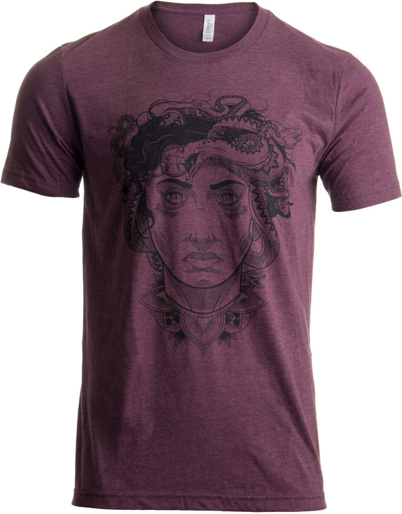 Medusa Head Portrait | Cool Greek Mythology Art Fashion for Men or Women T-shirt