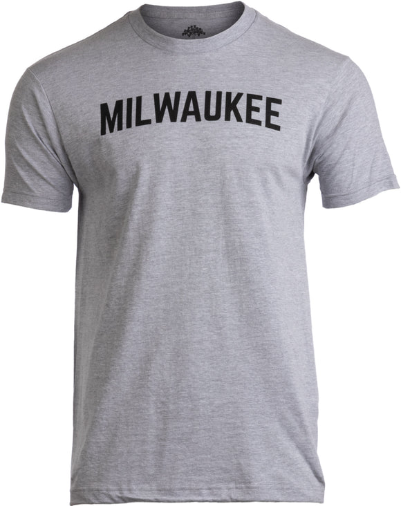 MILWAUKEE | Classic Retro City Grey Wisconsin Beer Brew Pride Men Women T-shirt