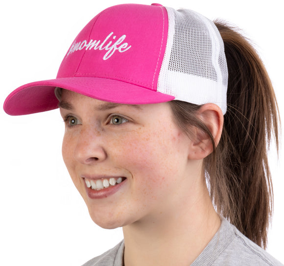 #momlife | Ponytail Trucker Hat, Funny Cute Mom Life Mommy Mother Pony Tail Cap