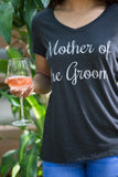 Mother of the Groom | Wedding Rehearsal Dinner Bridal Women's V-neck T-shirt
