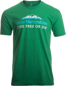 New Hampshire: Live Free or Die, Vintage New England Road Sign Men Women T-shirt