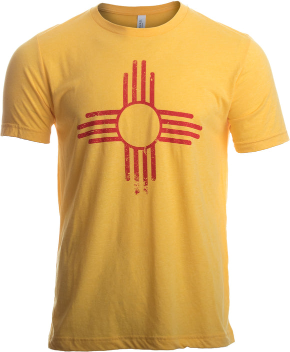 Vintage New Mexico Flag | Zia Sun New Mexican State Pride Men or Women T-shirt