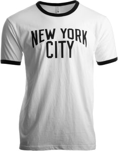 New York City | Iconic NYC Lennon Ringer Vintage Retro Style Men Women T-shirt