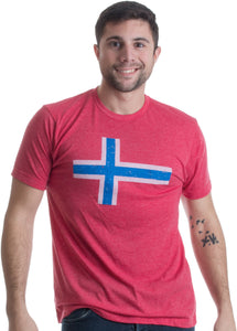 Norwegian Flag | Vintage Style, Retro-Feel Norway Flag & Lion Unisex T-shirt