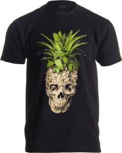 Pineapple Skull | Bizarre Goth Creepy Weird Fruit Illustration Art Men's T-shirt