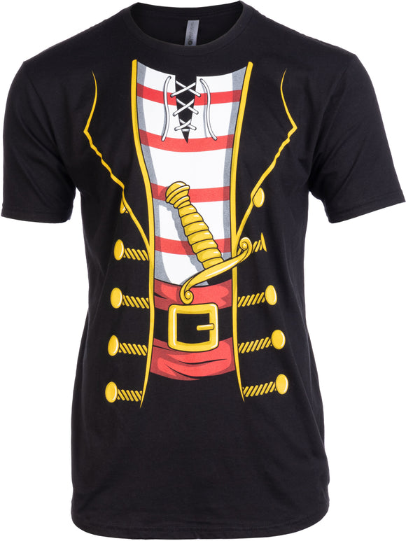 Tall Tee: Pirate Buccanneer | Jumbo Print Novelty Halloween Costume Man T-shirt