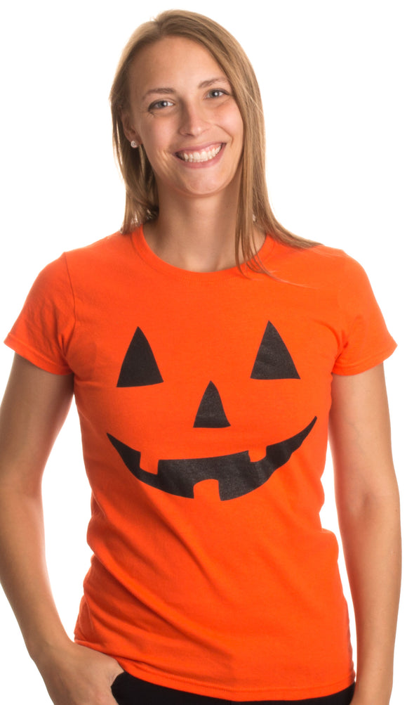 JACK O' LANTERN PUMPKIN Women's T-shirt / Easy Halloween Costume Fun Tee