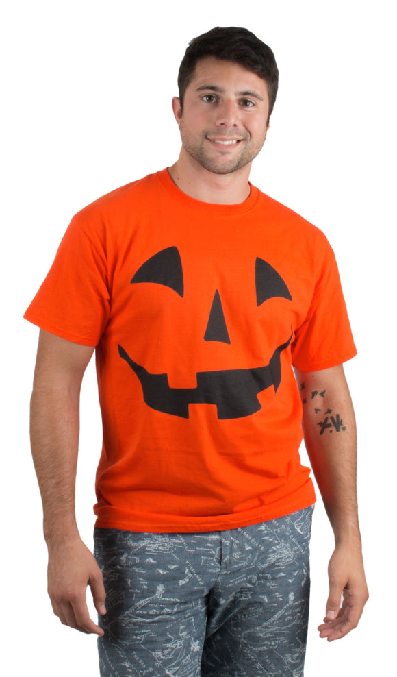 Giant Jack O' Lantern Face | Halloween Pumpkin Fun Unisex T-shirt for Men Women