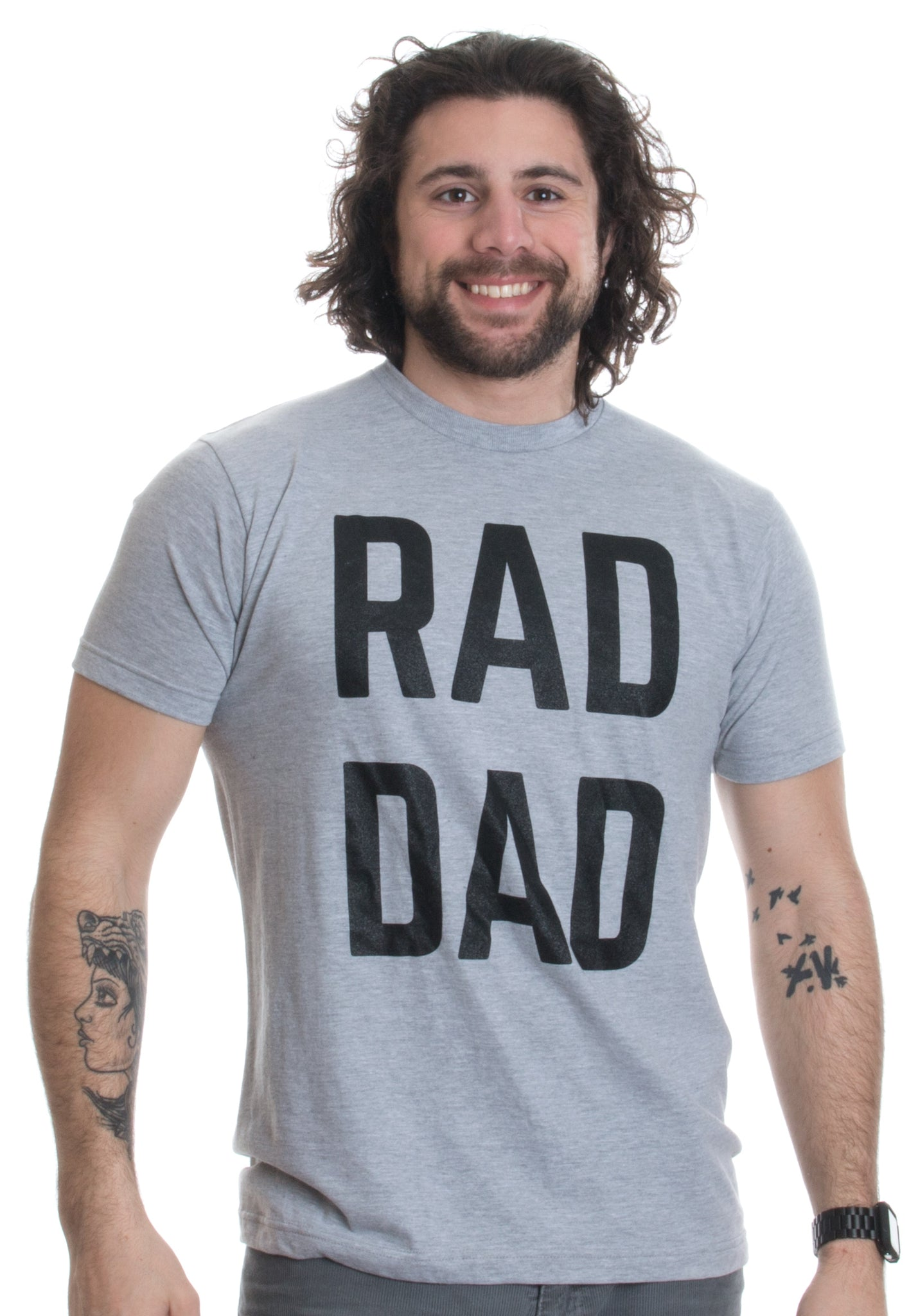 8858509d1 ... RAD DAD | Funny Cool Dad Joke Humor, Daddy Father's Day Grandpa Fathers  T- ...