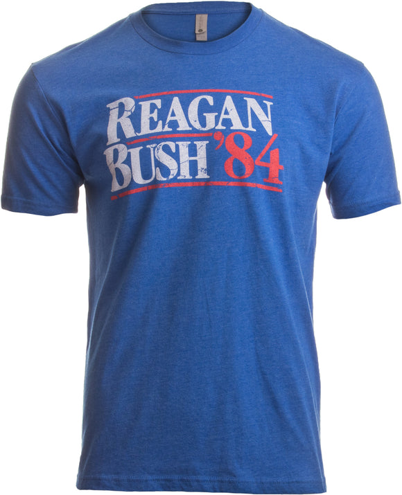 Reagan Bush '84 | Vintage Style Conservative Republican GOP Unisex T-shirt