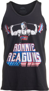 Ronnie ReaGUNS | Funny Ronald Reagan Weight Lifting Workout Merica USA Tank Top