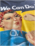 Rosie the Riveter, We Can Do It | Feminist Rosey Rosy V-neck T-shirt for Women