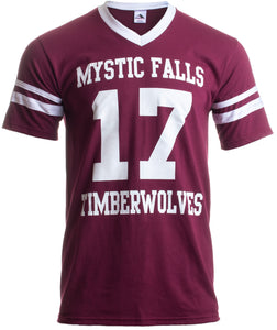 SALVATORE #17 | Mystic Falls Timberwolves Football Jersey Women V-neck T-shirt