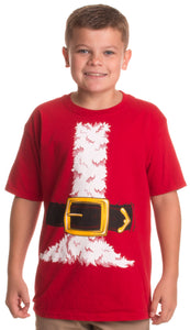 Santa Claus Costume | Jumbo Print Novelty Christmas Holiday Humor Youth T-shirt