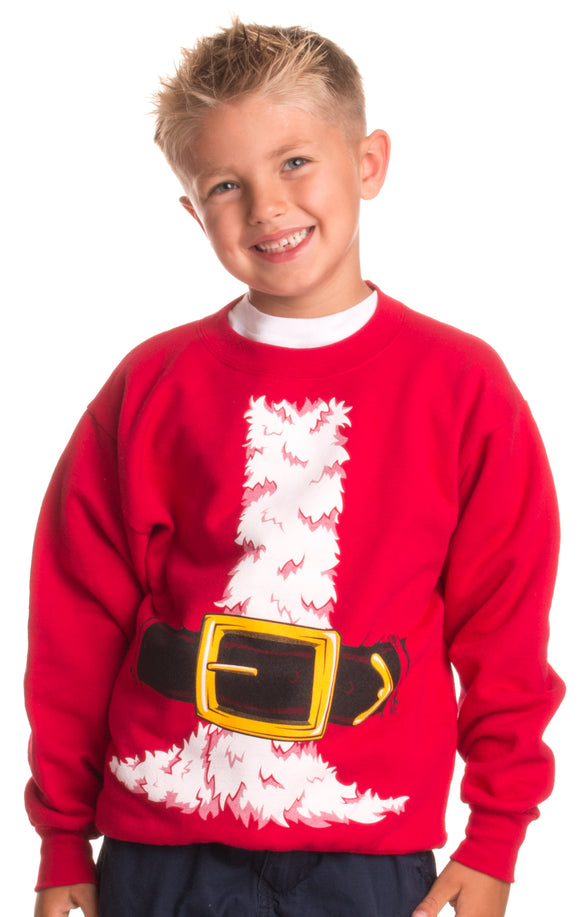 Kid's Santa Claus Costume | Novelty Christmas Sweater, Holiday Child Sweatshirt