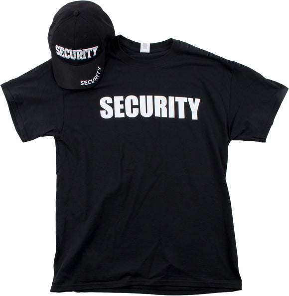 SECURITY Hat & T-shirt Bundle | Matching Security Guard Officer Uniform Kit