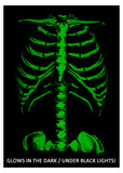 Skeleton Rib Cage | Jumbo Print Novelty Halloween Costume Unisex T-shirt