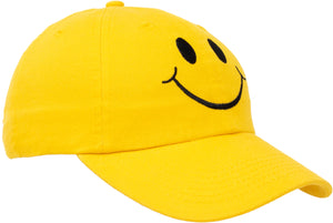 Smiley Face Hat | Cute Happy Mom Dad Teacher Yellow Baseball Cap for Men Women