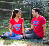 Southern Methodist University | SMU Mustangs Retro Style Ladies' V-neck T-shirt