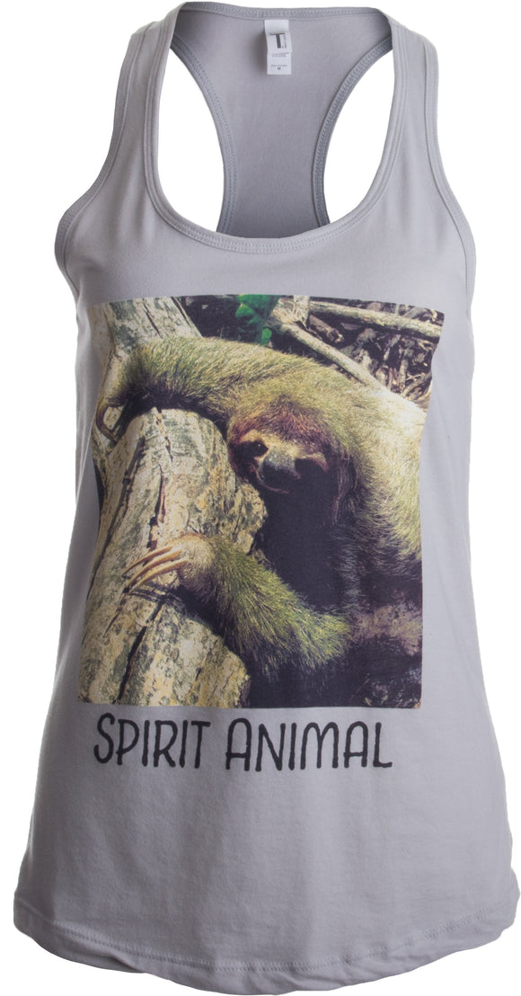 Spirit Animal Sloth | Funny Cute Lazy Kid Nap Time Relax Women's Racerback Tank