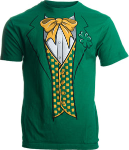 Leprechaun Tuxedo | Funny St. Patrick's Day Irish Paddy Costume for Men T-shirt