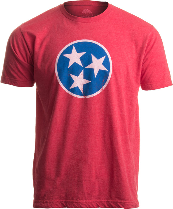 Tennessee Flag | Vintage Distressed Effect Tennesseean Volunteer State T-shirt