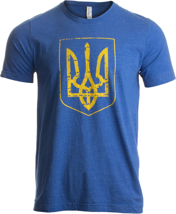 Ukraine Pride | Vintage Style, Retro-Feel Ukrainian Coat of Arms Unisex T-shirt