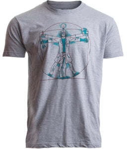 0a46e7c85bb2 Vitruvian Scientist | Funny Cool Science Nerd Nerdy Geek Geeky Men Women T- shirt