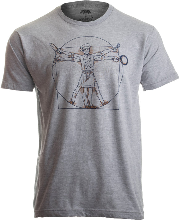 Vitruvian Chef | Funny Cook Restaurant Kitchen Worker Food Cooking Humor T-shirt