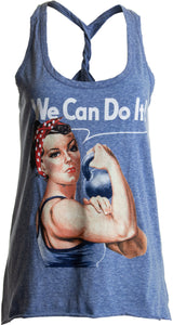 Rosie the Lifter | Cute Workout Exercise Lifting Women Kettlebell Racerback Tank