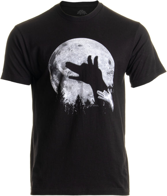Wolf Shadow Puppet | Unique Moon Outdoor Hike Camp Funny Fun Men Women T-shirt