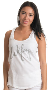 Wifey | Cute Bridal Wife Top, New Bride Wedding Women's Soft Racerback Tank Top