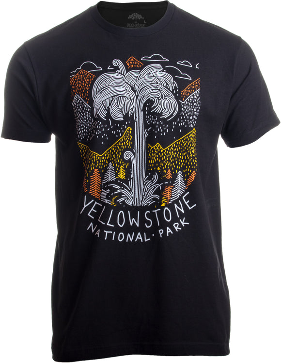 Yellowstone National Park | Geographic Poster Print Travel Art Men Women T-shirt