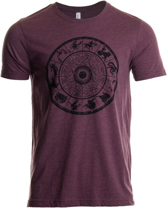 Zodiac Wheel | Stylish Horoscope Art Astrology Spiritual Unisex Triblend T-shirt
