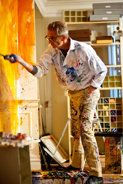 Steve Penley painting in studio