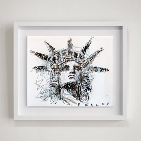 Liberty b&w on paper- framed